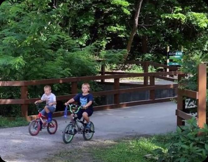 Two Kids Biking